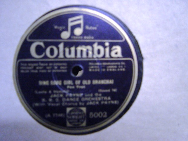 Jack Payne - Anything you Say - Columbia 5002