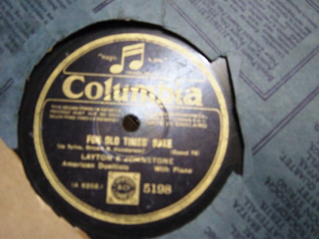 Layton & Johnstone - For old times sake - Columbia 5198