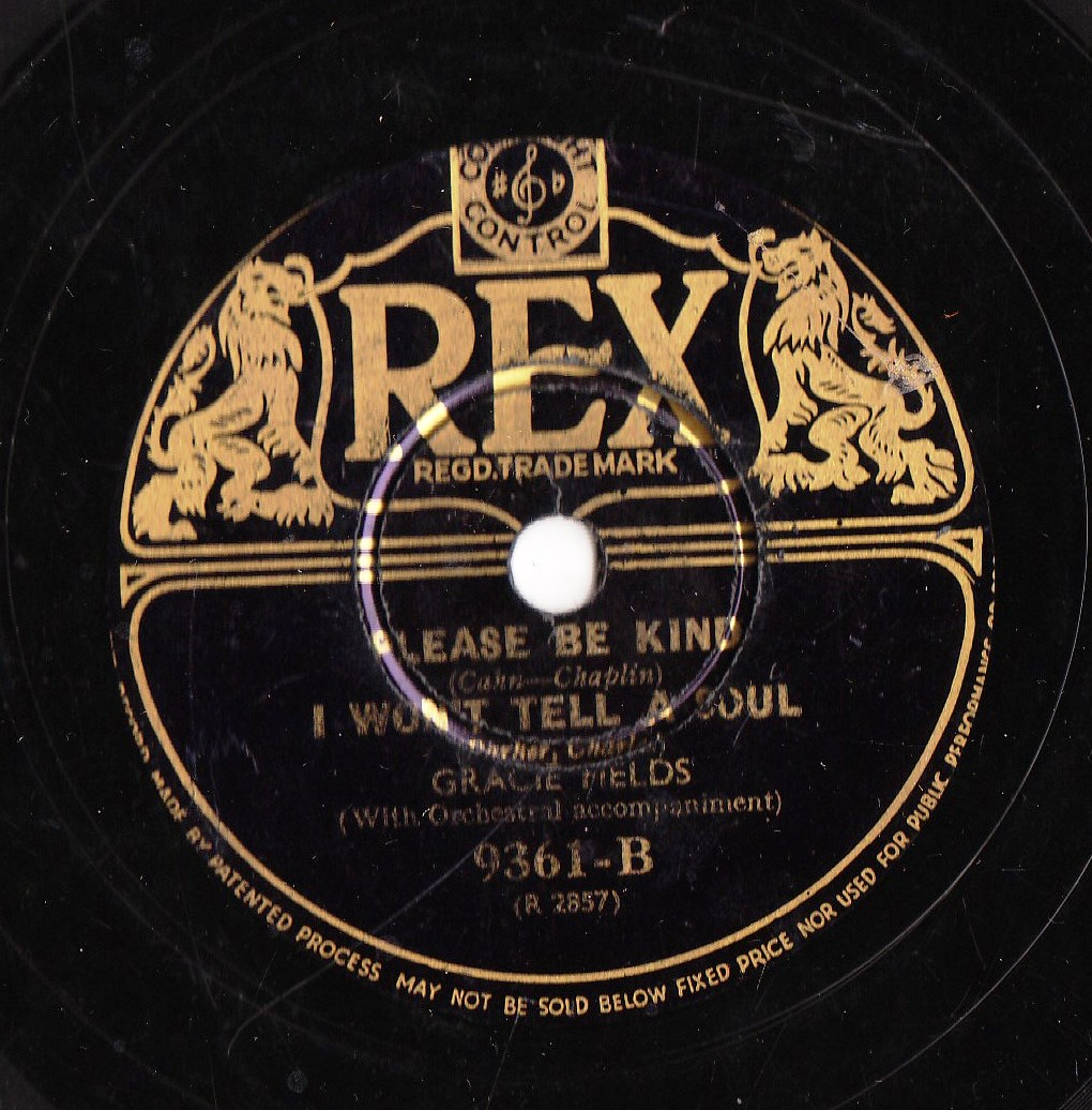 Gracie Fields - Goodnight Angel - REX 9361