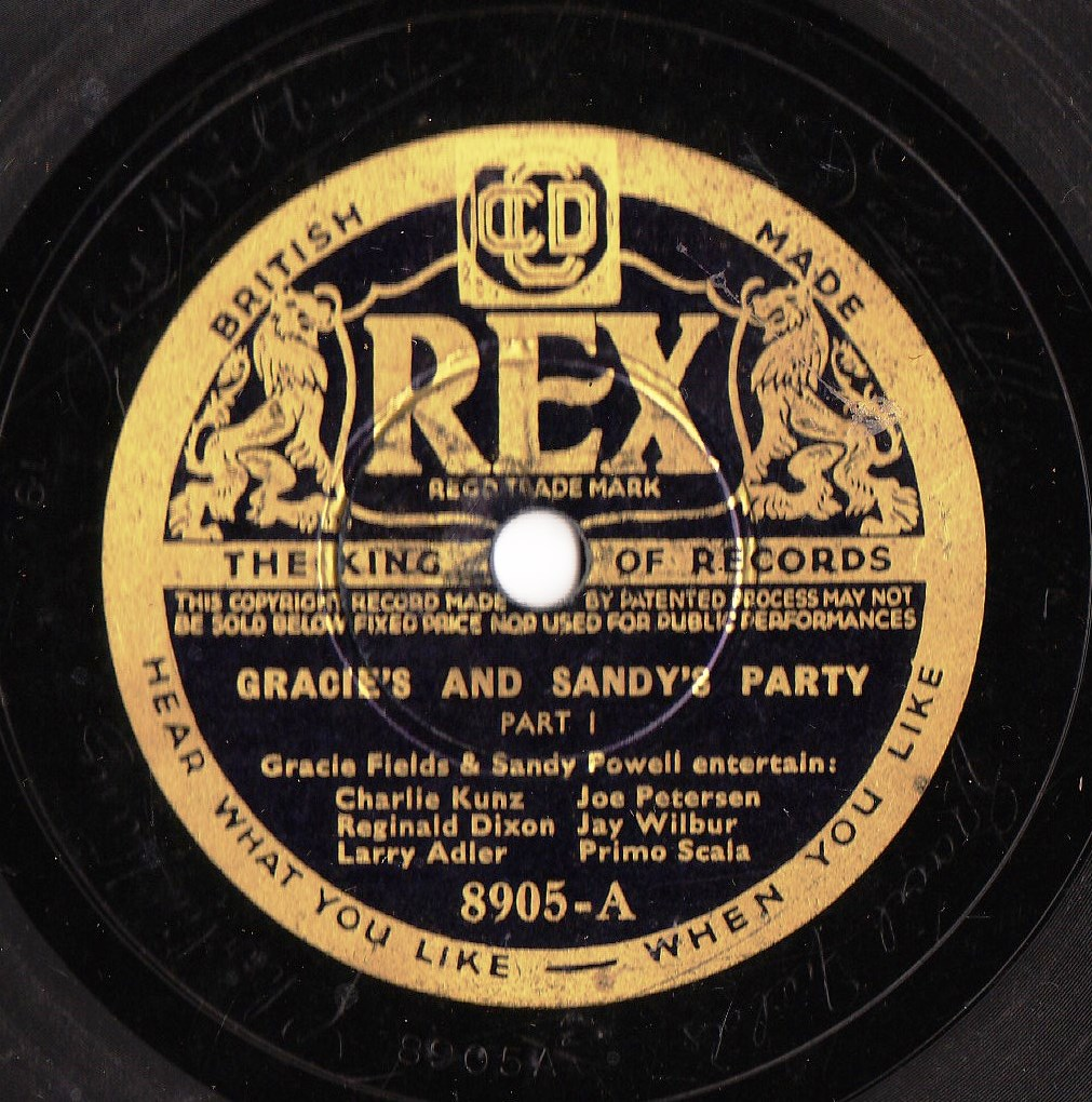 Gracie Fields & Sandy Powell - Party - REX 8905