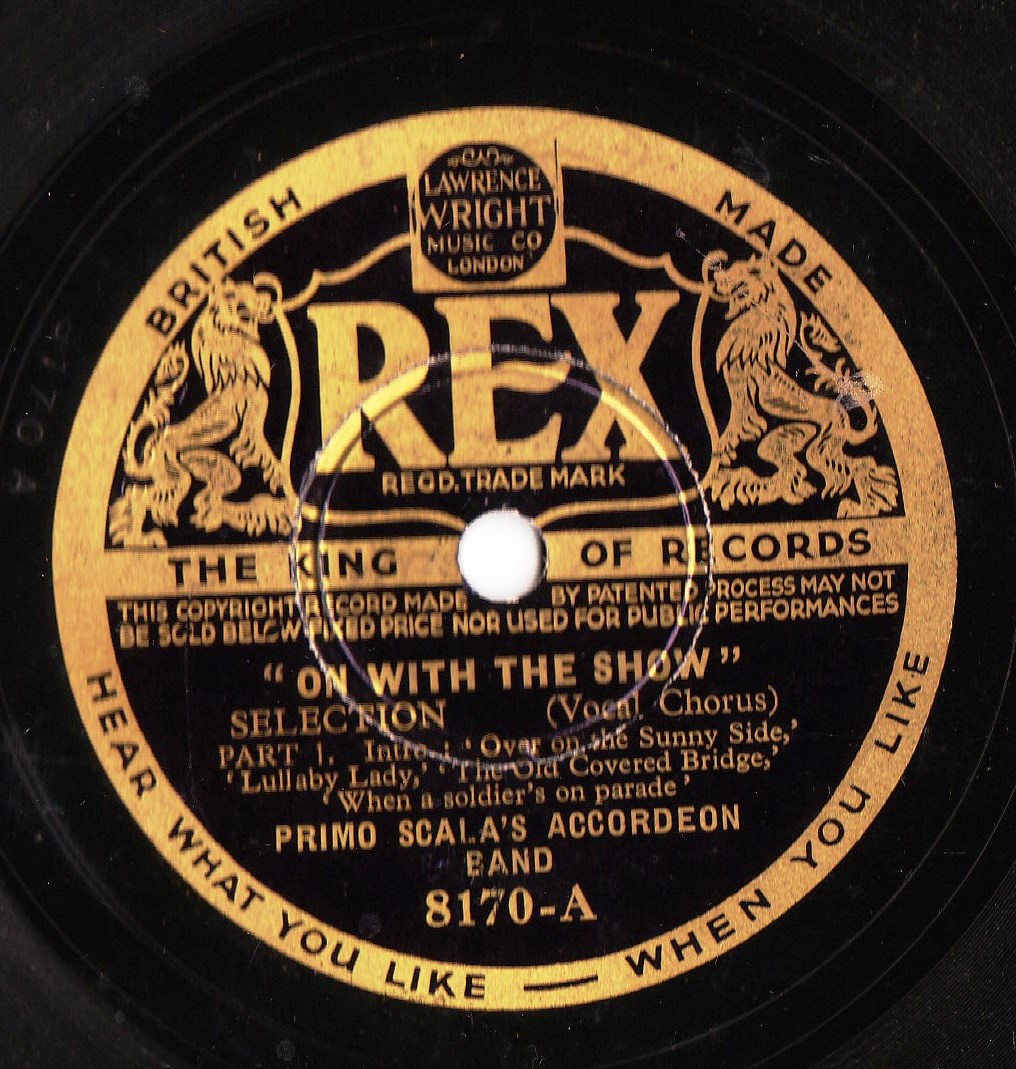 Primo Scala's Accordeon Band - On with the Show - Rex 8170