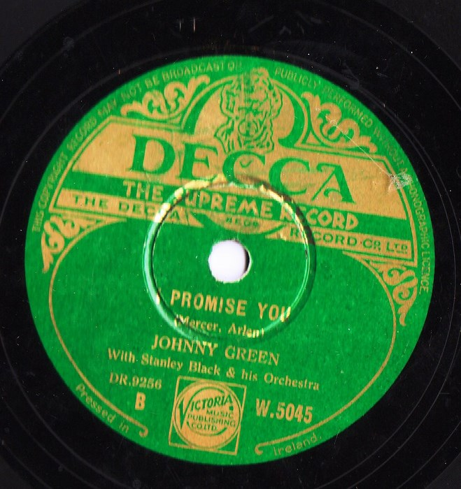 Johnny Green - A little on the Lonely Side - Decca W.5045 Irish
