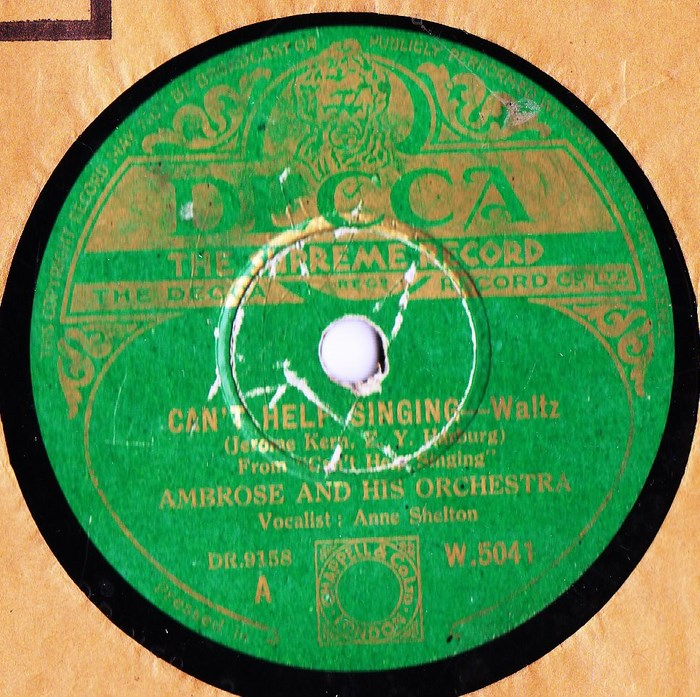Ambrose & Orchestra - Can't help singing - Decca W.5041