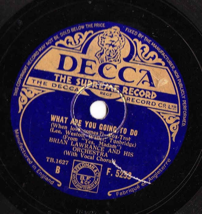 Brian Lawrance - Whistle my Love - Decca F.5253