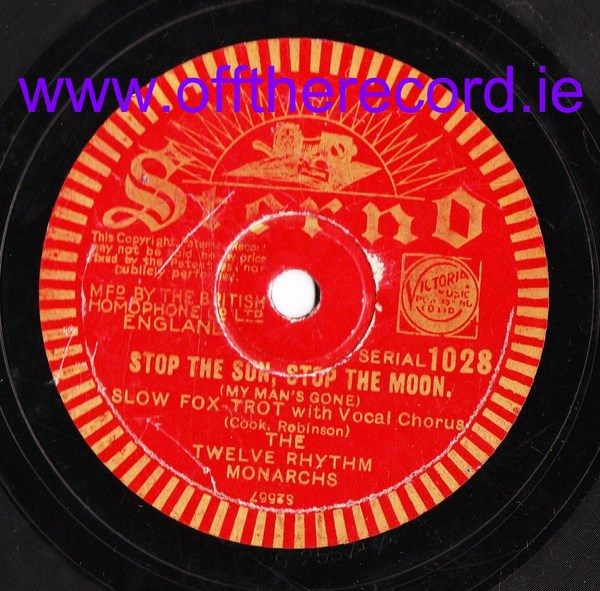 The Twelve Rhythm Monarchs - Stop the Sun - Sterno 1028