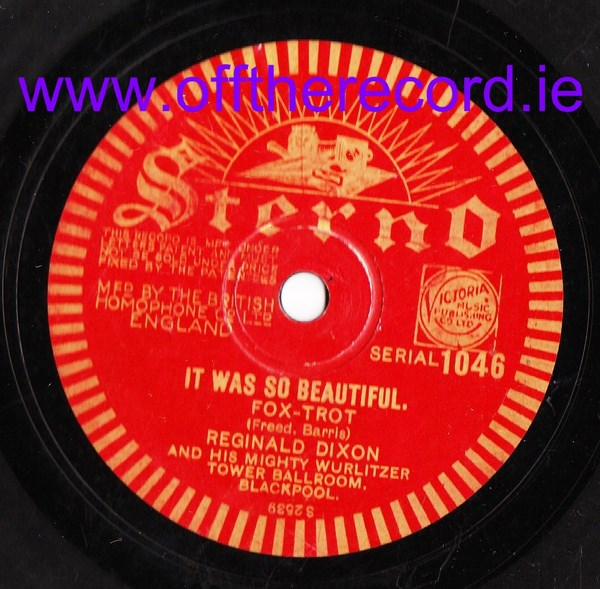 Reginald Dixon - Moonlight on the River - Sterno 1046