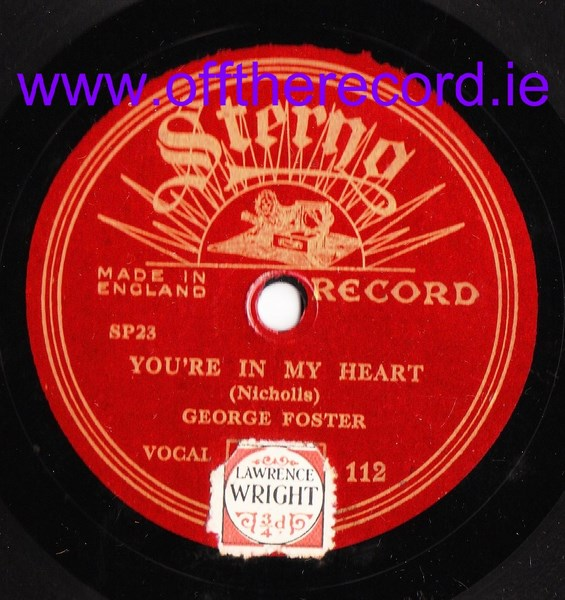 George Foster - Your'e in my Heart - Sterno 112