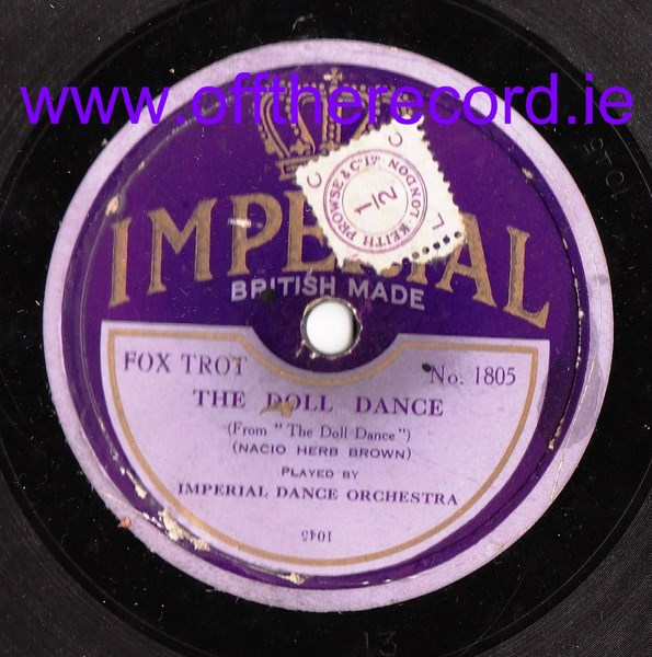 Imperial Dance Orchestra - Forgive Me - Imperial 1805
