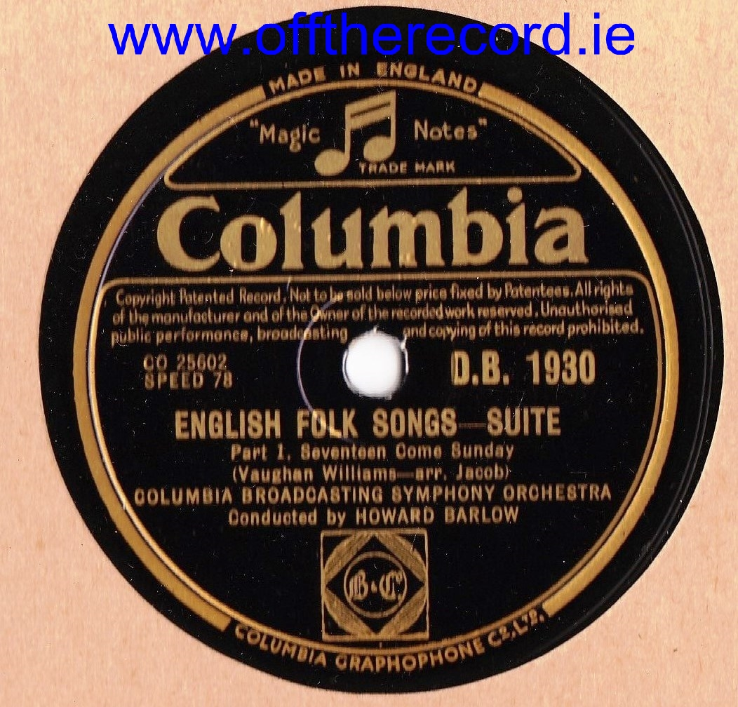 Columbia Broadcasting Symphony - English Folk Songs - Columbia