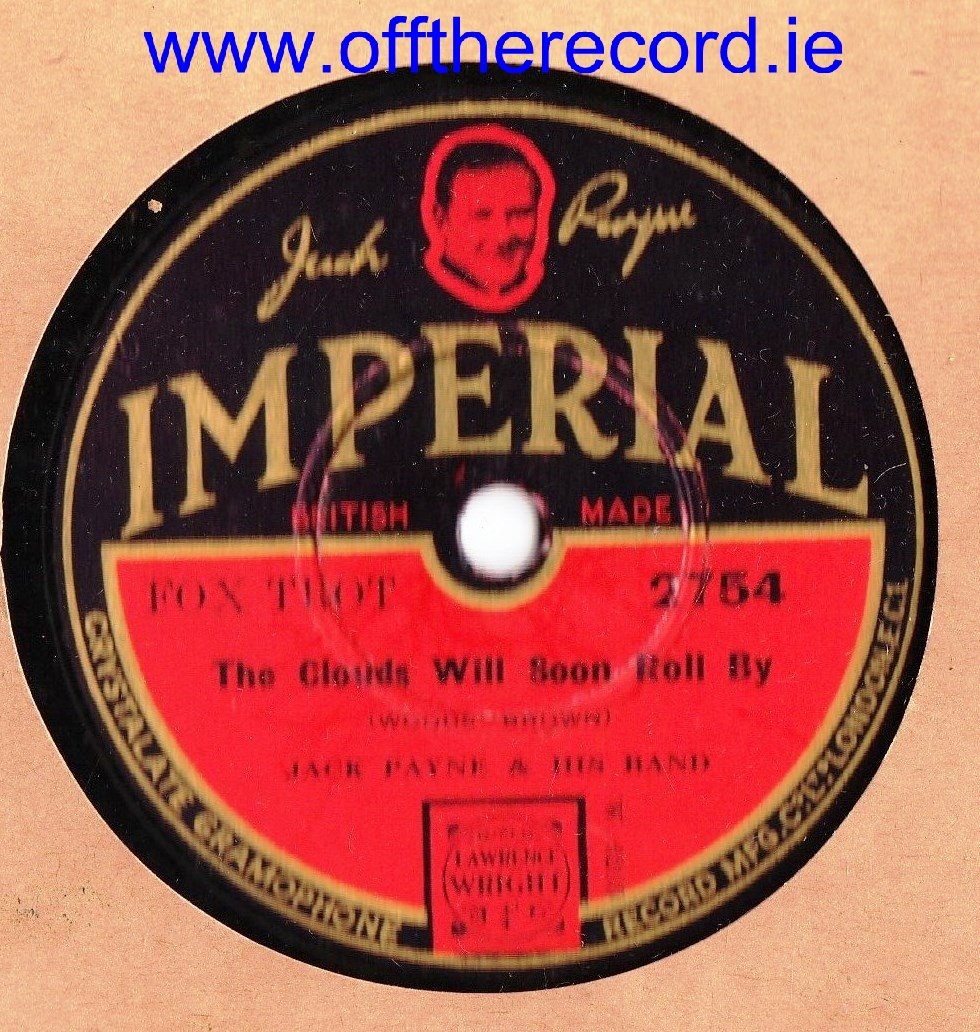JACK PAYNE - UNDERNEATH THE ARCHES - IMPERIAL 2754
