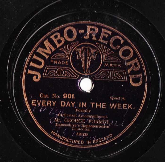George Formby - Every day in the Week - Jumbo 901