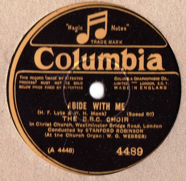B.B.C. Choir - Abide with me - Columbia 4489