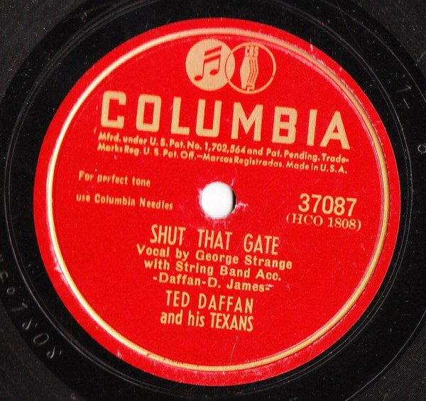 Ted Daffan & Texans - Broken Vows - Columbia 37087 USA