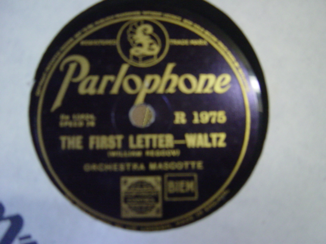 Orchestra Mascotte - The First Letter - Parlophone R. 1975