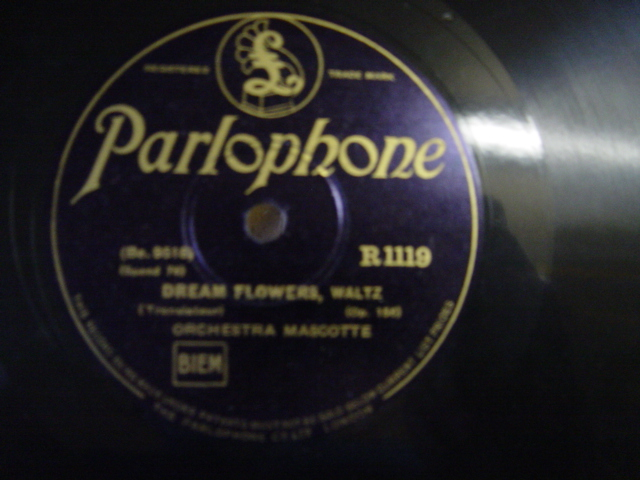 Orchestra Mascotte - Dream Flowers - Parlophone R. 1119