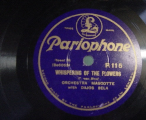 Orchestra Mascotte - The Flowers Dream - Parlophone R. 115