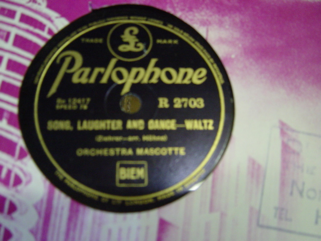 Orchestra Mascotte - Bad'ner Mad'ln - Parlophone R. 2703