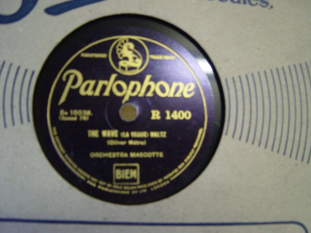Orchestra Mascotte - The Wave - Parlophone R. 1400