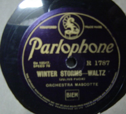 Orchestra Mascotte - Winter Storms - Parlophone R. 1787