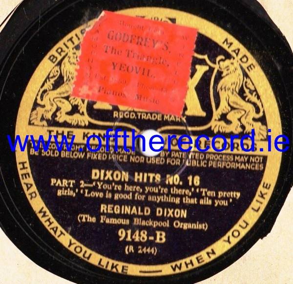Reginald Dixon - Dixon Hits No. 16 - Rex 9148