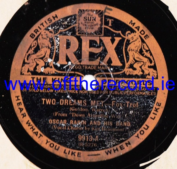 Oscar Rabin - Two Dreams Met - Rex 9913