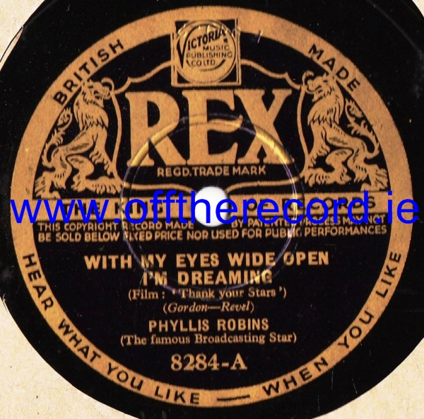 Phyllis Robins - With my eyes wide open - Rex 8284