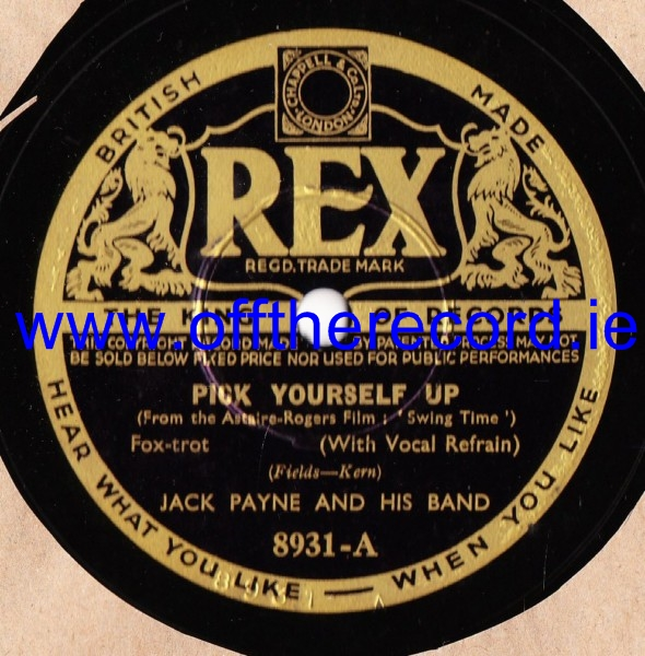 Jack Payne - Pick yourself up - Rex 8931