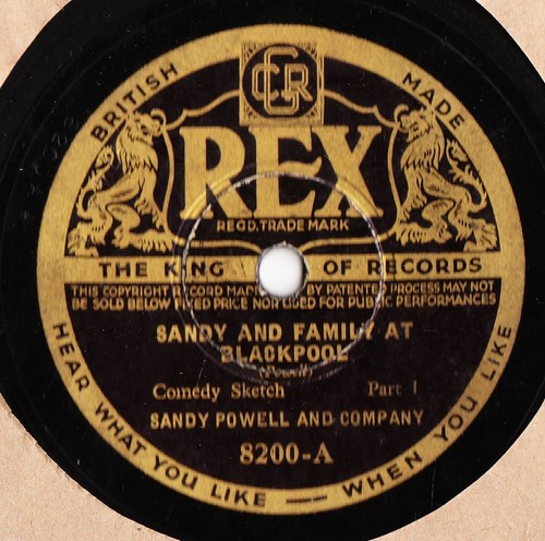 Sandy Powell - Sandy and Family at Blackpool - Rex 8200