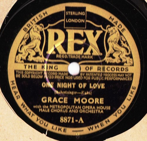 Grace Moore - One Night of Love - Rex 8871