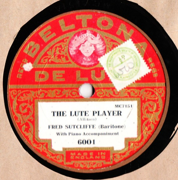 Fred Sutcliffe - The Lute Player - Beltona 6001