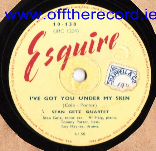 Stan Getz Quartet - I've got you under my skin - Esquire 10-138