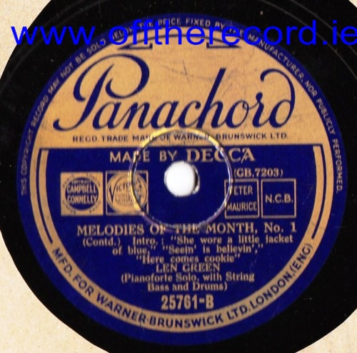 Len Green - Melodies of the Month - Panachord 25761