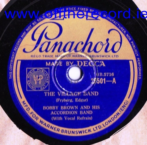 Bobby Brown Accordion Band - Village Band - Panachord 25501