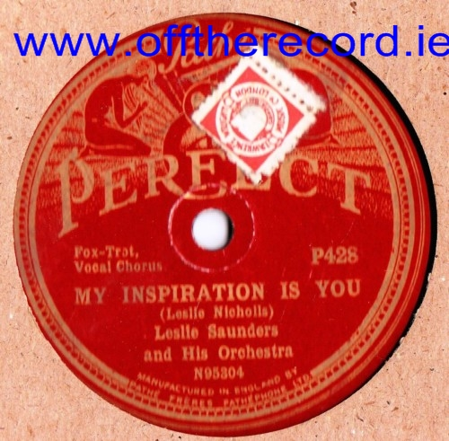 Leslie Saunders - In Old Vienna - Perfect Records P.428