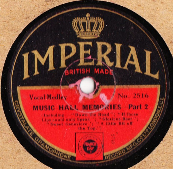 Music Hall Memories - Medley - Imperial 2516