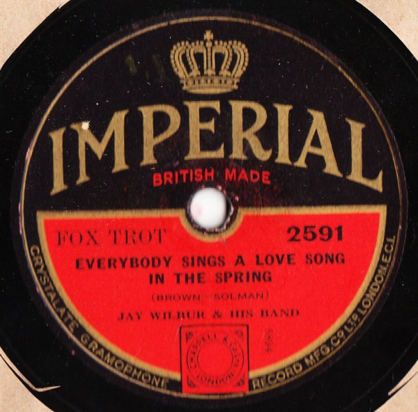 Jay Wilbur - The Queen was in the Parlor - Imperial 2591