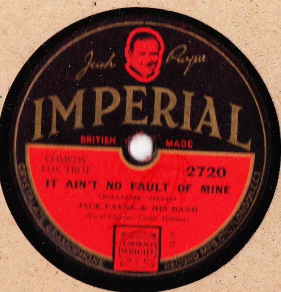 Jack Payne - Round the Marble Arch - Imperial 2720