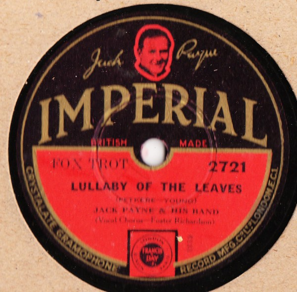 Jack Payne - Lullaby of the Leaves - Imperial 2721