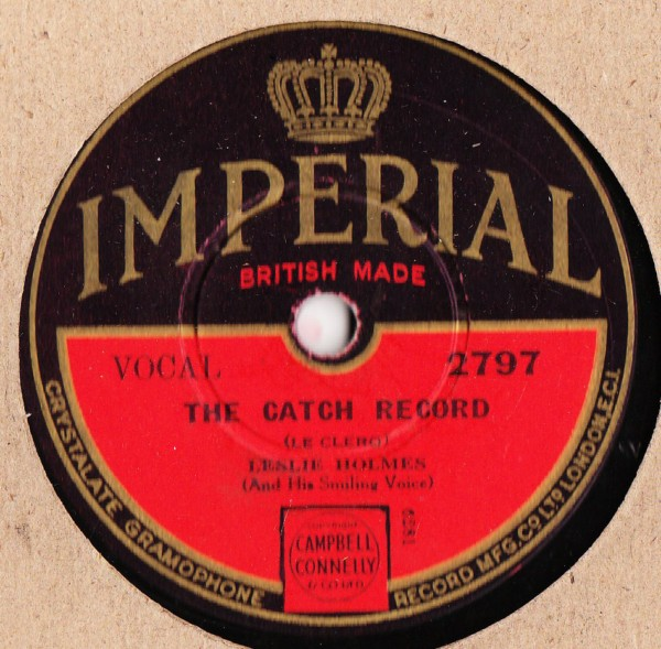 Leslie Holmes - The Catch Record - Imperial 2797