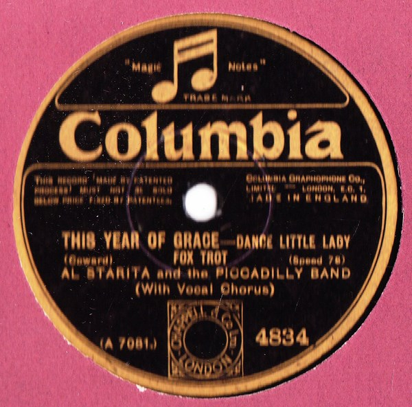 Al Starita Piccadilly Band - This year of Grace - Columbia 4834