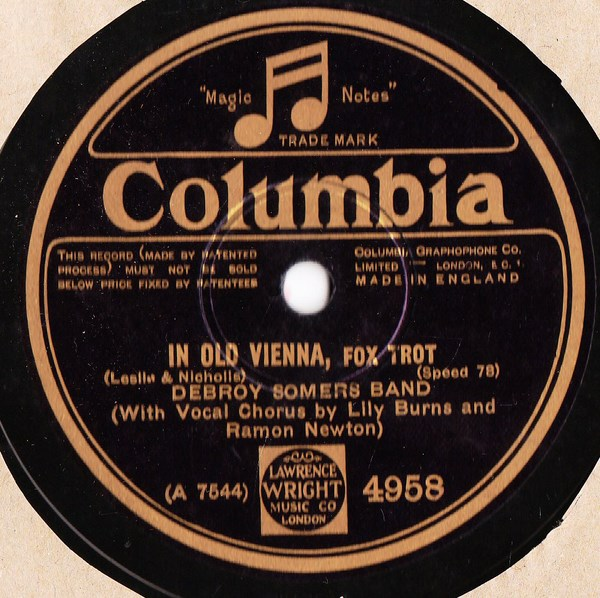 Debroy Somers Band - In old Vienna - Columbia 4958