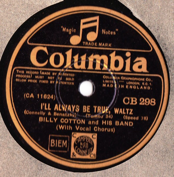 Billy Cotton - Roll on Mississippy - Columbia CB. 298