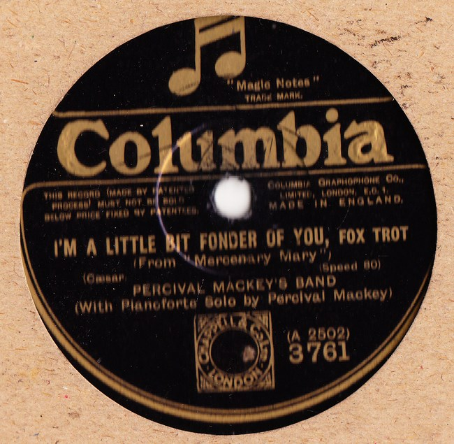 PERCIVAL MACKEY - LITTLE BIT FONDER - COLUMBIA 3761