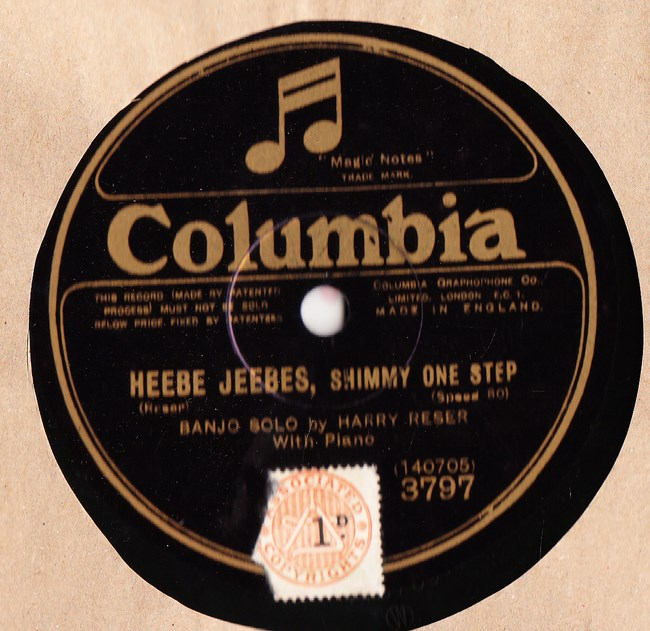 Harry Reser Banjo - Ukulele Lady - Columbia 3797