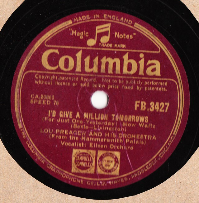 Lou Preager - There ought to be a Society - Columbia FB.3427