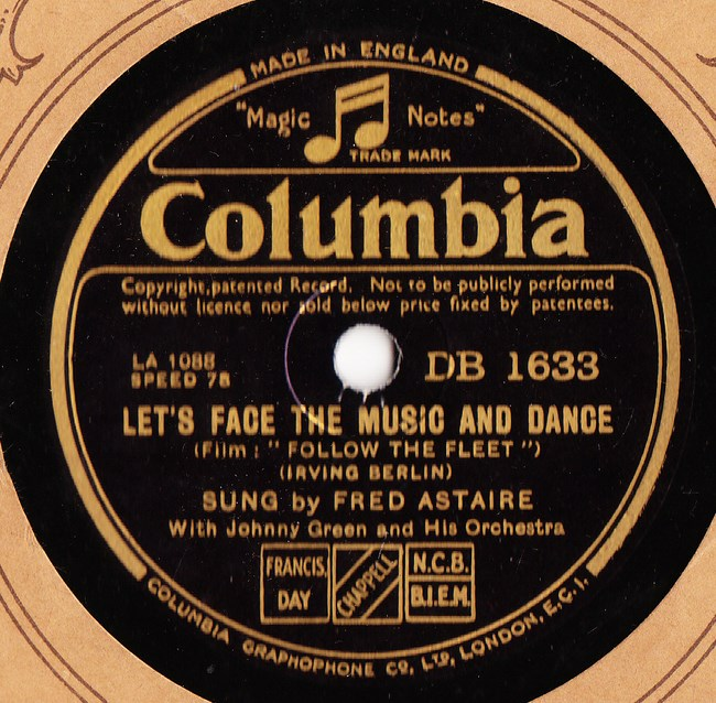 Fred Astaire - Let yourself go - Columbia DB.1633