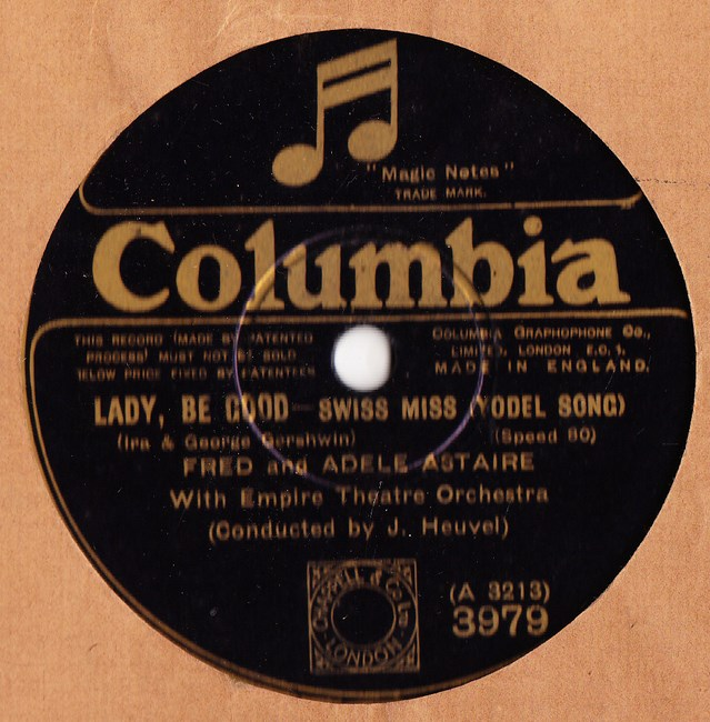 Fred Astaire & Adele - Lady be Good - Columbia 3979