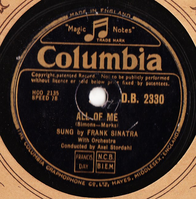 Frank Sinatra - All of me - Columbia DB.2330 Excellent