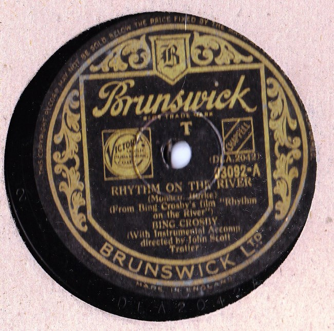 Bing Crosby - Rhythm on the River - Brunswick 03092
