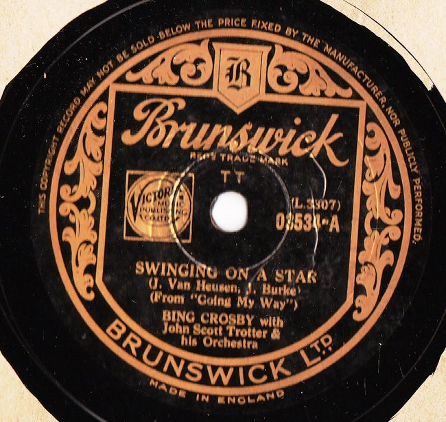 Bing Crosby - Swinging on a Star - Brunswick 03534 N Mint